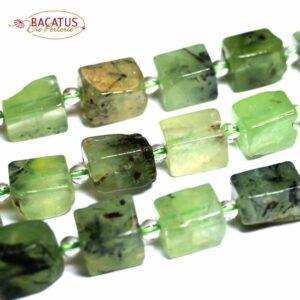 Prehnit Blöcke grün 8 x 12 mm, 1 Strang