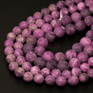 Charoit Kugel matt lila 4 – 14 mm, 1 Strang