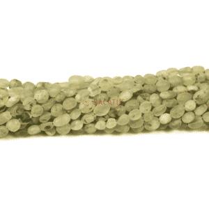 Prehnit Nuggets matt ca. 6 x 8 mm, 1 Strang