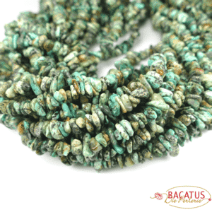 African turquoise sliver 5 x 8 mm, 1 strand
