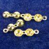 Quetschkalotten Klappkapseln mit Loch 925 Silber *vergoldet* Ø4-5mm - 4mm