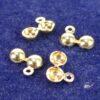 Quetschkalotten Klappkapseln ohne Loch 925 Silber *vergoldet* Ø3-5mm - 3mm