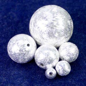 Hohlkugeln 925 Silber gebürstet Ø 4,5 – 18 mm
