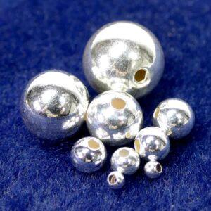 Hohlkugeln 925 Silber kleines Loch Ø 2 – 12 mm