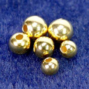Hohlkugeln 925 Silber *vergoldet* kleines Loch Ø 4 – 6 mm