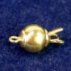 Schnappschließe Kugel 925 Silber *vergoldet* Ø 6-12 mm - 6mm