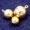 Chiusura magnetica argento 925 * placcato oro * Ø 8 - 15 mm - 8mm