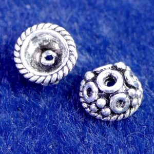 Perlkappe 925 Silber Ø 7×3 mm #1
