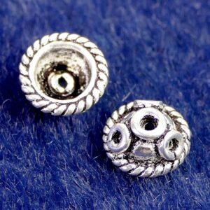Perlkappe 925 Silber Ø 7×3 mm #2