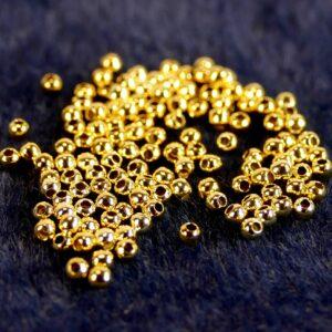 Perles à écraser Crimps argent 925 * plaqué or * 10 pièces