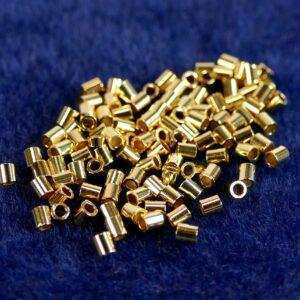 Quetschröhrchen Crimps 925er Silber *vergoldet* 10 Stück