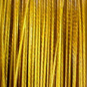 (0,12€/m) Schmuckdraht Edelstahlseide 7 Stränge *Dunkelgold* Ø 0,3 – 0,6 mm