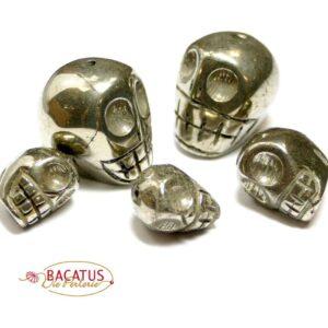 Crâne en pyrite avec alésage 12-18 mm (1 pièce)