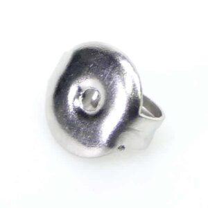 Ohrringstöpsel Ohrringflügel Stopper Edelstahl Ø 5-7 mm 10 Stück