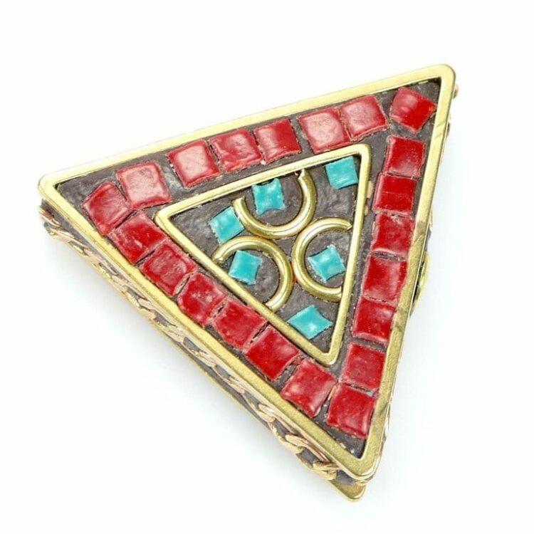 Tibetische Perle Dreieck