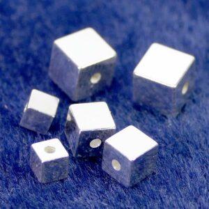 Würfel 925 Silber Ø 3 – 5 mm