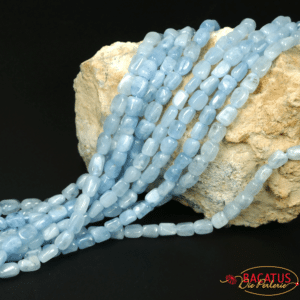 Aquamarine cuboid light blue approx. 5 x 8 mm, 1 strand