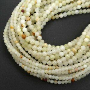 Boules de jade Afghanistan brillant 4-12 mm, 1 fil