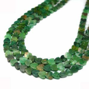 Coeurs de jade d'Afrique du Sud 6 & 10 mm, 1 fil