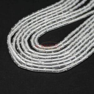 Bergkristall Röhrchen glanz 2×4 mm, 1 Strang