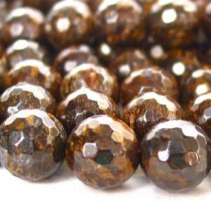 Bronzit Kugel facettiert 4 – 10 mm, 1 Strang