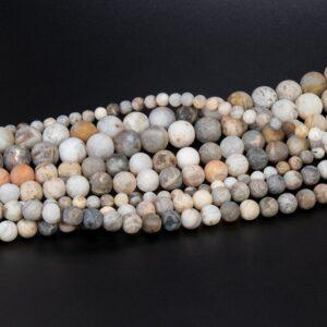 Crazy Lace Achat Kugel matt 4 – 12mm, 1 Strang