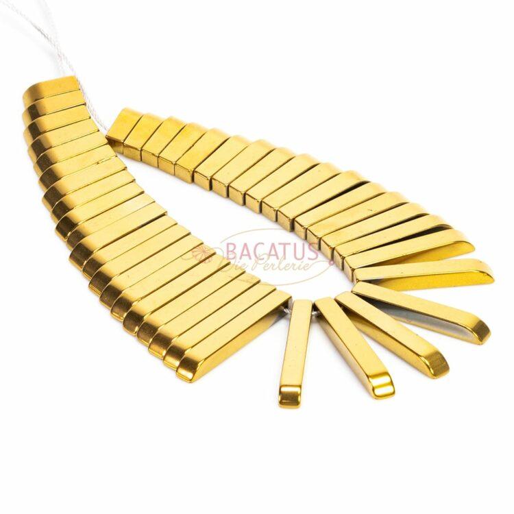 Hämatit-stäbchen-collier-gold