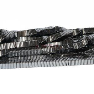 Ematite quadrati antracite 8 x 2 mm, 1 filo