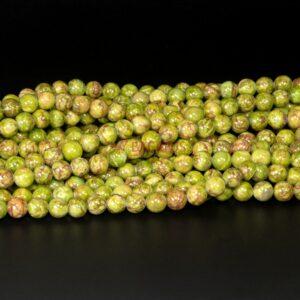 Afrika Jaspis Kugel glanz grün 6-8mm, 1 Strang