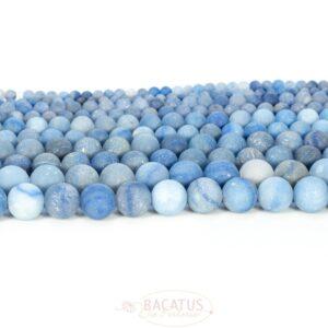 Aventurine matt round blue 4 – 12 mm, 1 strand