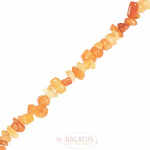 Aventurine sliver orange 5 x 8 mm, double strand