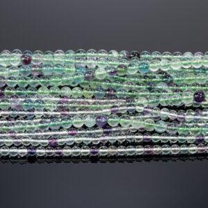 A – Grade Fluorit 4 – 8 mm, 1 Strang