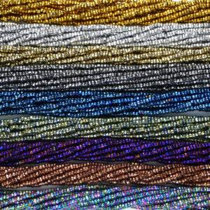 Ematite rondelle selezione colori sfaccettati 1 x 2 mm, 1 capo