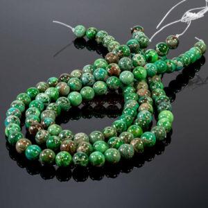 A-Grade Impression Jaspis Kugel grün 10 mm, 1 Strang