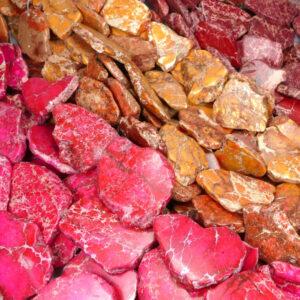 Impression Jaspis Scheiben Farbauswahl 20 x 35 mm, 1 Strang