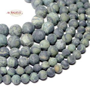 Boules de jaspe Kambaba mat 6-10 mm, 1 fil