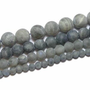 A-Grade Labradorit Kugel matt 3 – 12 mm, 1 Strang