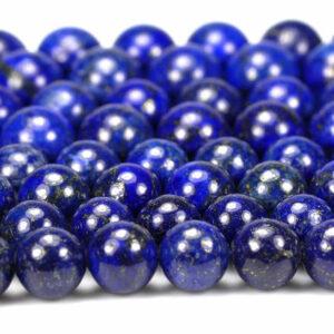 Lapis lazuli plain round 2 – 18 mm, 1 strand