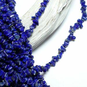 Lapis lazuli nuggets 3 x 5 mm, 1 strand