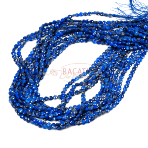 Lapis lazuli coins faceted 4-5mm, 1 strand