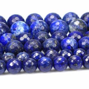 Lapis lazuli faceted round 2 – 14 mm, 1 strand