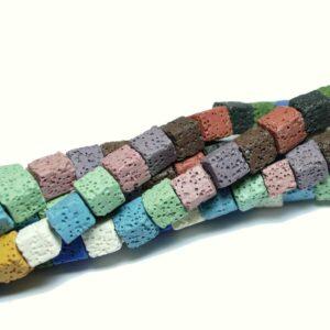 Cubetti di lava colorati 8 x 8 mm, 1 capo