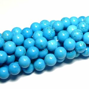 Magnesit Kugel glanz blau 4 mm, 1 Strang