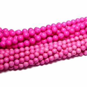 Sfera di magnesite rosa 6 & 8 mm, 1 capo