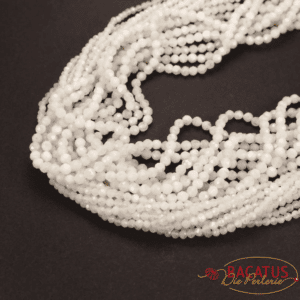 Moonstone faceted round white 2 & 3 mm, 1 strand