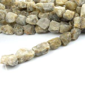 Opal grobe Nuggets grau gelb 13 x 22 mm, 1 Strang