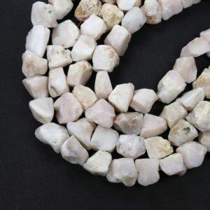 Opal grobe Nuggets weiß 13 x 22 mm, 1 Strang
