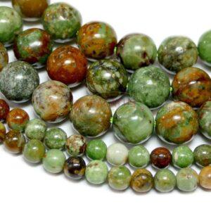 Sfera opale verde brillante 4 – 12 mm, 1 filo