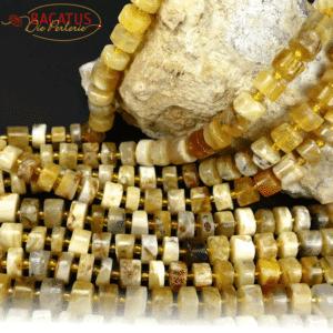Opal Räder gelb 6 x 10 mm, 1 Strang