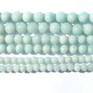 Amazonit A – Grade Naturfarben 2 – 14 mm, 1 Strang